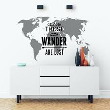 image 0 map wall sticker world india decal not all those who wander image 0 map wall sticker world india
