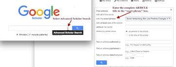 Google Scholar Find Articles By Citation Worldcat