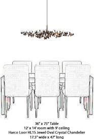 harco loor jewel oval chandelier