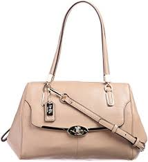 Coach Madison Small Leather Madeline East West Satchel Camel