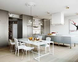 modern white dining room chairs. Eat In Kitchen Gray Cabinets Island Marble Top Dining Room Table Mix Match Chairs Modern White