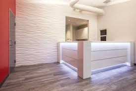 office configurations. Modern Reception Desks With LED Lighting Office Configurations