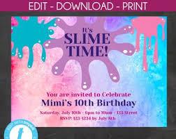 Teen Birthday Invite Etsy