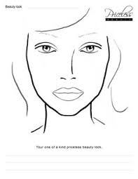 blank face chart temples male and female i had a horrible cold and still have if