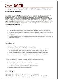 Sample Vitae Resume Cv Sample In English Myperfectcv