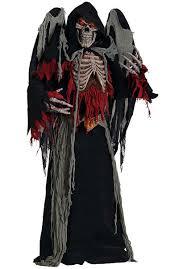 Halloween Mask Light Up Eyes Winged Reaper Costume With Light Up Eyes Halloween Is