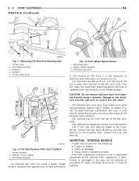 Tie Rod End Taper Chart 2002 Dodge Caravan Service Repair Manual