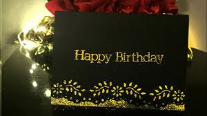 Tutorial Easy Elegant Birthday Card Youtube