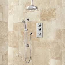 isola thermostatic shower system with rainfall shower kitchen sink tray hinges