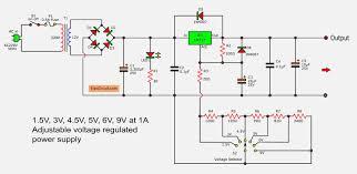 5v And 12v Power Supply Design Lm317 Voltage Selector Power Supply 1 5v 3v 4 5v 5v 6v 9v