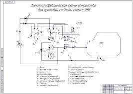 Внедрение диагностики с проектом устройства промывки системы смазки  Электрогидравлическая схема устройства для промывки системы смазки ДВС