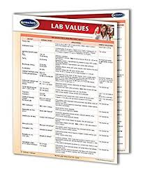 Clinical Chart Clinical Lab Values Chart Medical Quick Reference Guide By Permacharts