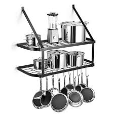 2 tier wall mounted pots and pans