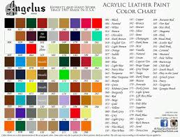 Angelus Leather Dyes Leather Dye Color Kit Paint Color Chart