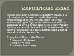 generally there are four major types of essays that depend on the  facts is what best describes expository essays