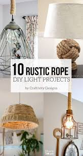10 rustic rope diy light projects