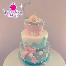 bubble bath baby shower cake