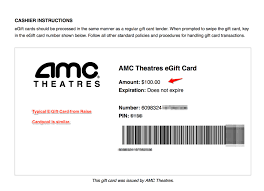 amc gift card use photo 1