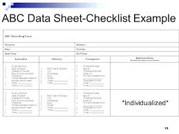 Abc Behaviour Chart Example 22 Perspicuous Free Abc Data Collection Sheet