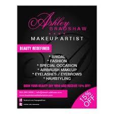 hair and makeup artist monogram promotional flyer makeup business cardsflyers
