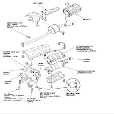 1999 honda accord exhaust diagram
