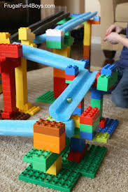 STEM Building Challenge for Kids: Create a LEGO Duplo Marble Run! Pool  noodles plus