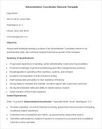 Examples Of Administrative Resumes Mesmerizing Administration Resume Template 48 Free Samples Examples Format