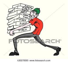 pizza delivery clipart. Interesting Delivery Clipart  Pizza Delivery Man Fotosearch Search Clip Art Illustration  Murals Drawings Intended Delivery E