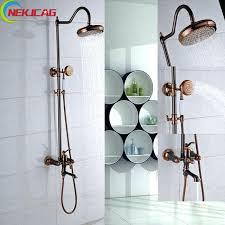 oil rubbed bronze shower faucet kits faucets set 8 rain bathroom light fixtures bath stuff of delta windemere oil rubbed bronze