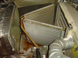 air conditioning cleaning. evaporator coils in compartment air conditioning cleaning