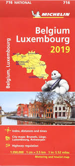 Michelin Load Index Chart Belgium Luxembourg 2019 Michelin National Map 716 Map
