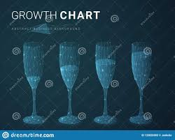 Wine Glass Shape Chart Abstract Modern Business Growing Chart With Stars And Lines