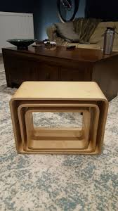 nest of tables bent plywood coffee side tables unusual retro