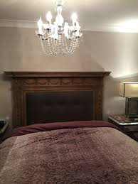 fireplace mantle headboard just finished