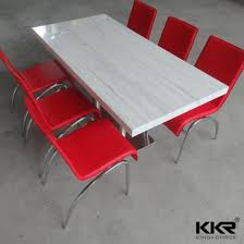 carrara white acrylic solid surface 60 round dining tables