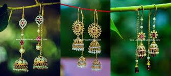 Latest Design Of Gold Earrings Sui Dhaga Sui Dhaga Jhumka Earrings Earrings Fairy Jewelry Simple