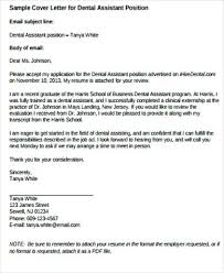 Dental Assisting Cover Letter Dental Assistant Cover Letter Dental