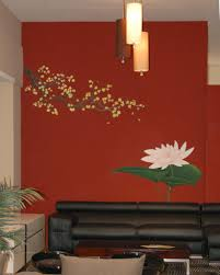 home design nice decorative wall stencils ideas style of saveenlarge asian painting