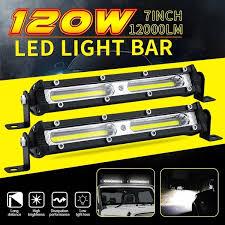 <b>7inch 120W</b> Straight Slim <b>LED</b> Light Bar Single Row for SUV 4WD ...
