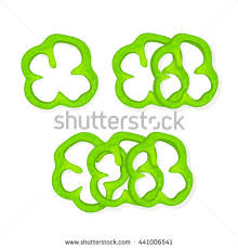 sliced green pepper clipart. Set Of Green Peppers Slices Bell Paprika Isolated On White Background Sliced Pepper Clipart