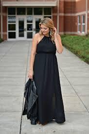 the perfect black maxi dress