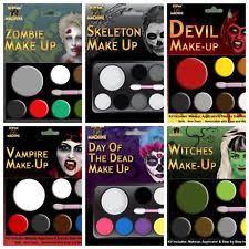 make up face paint fancy dress set kit vire witch devil skeleton