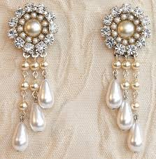bridal chandelier earrings rhinestone victorian silver swarovski earrings for wedding