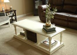 ... Brown Off White Coffee Tables Wooden Simple Pot Plant Flower Green  Branches Makely Home That Is ...