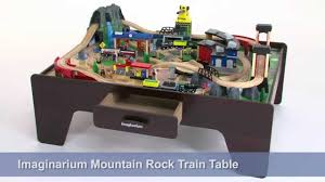 Train Set Table With Drawers Imaginarium Mountain Rock Train Table Youtube