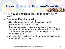 basic economic problem of scarcity essay basic economic problem of scarcity essay