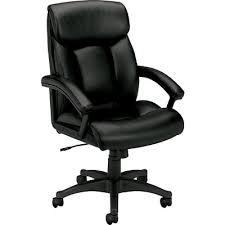 S HON SofThread Leather HighBack Executive Chair CenterTilt Fixed Arms