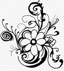flower black and white clip art tropical line cliparts