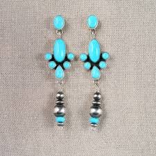 navajo chandelier drop earrings museum of indian arts and culture stunning art work by new mexico artists