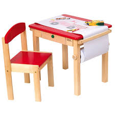 preschool art table. Red Art Table And Chair Set Rocking Horses In Play : Toys For Girls At Preschool S